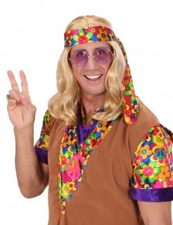 Hippie-Herrenperücke Langhaar-Perücke 60er-Jahre blond