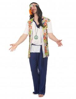 60er Jahre Kostüm Hippie bunt