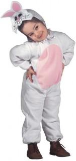 Hasen Kinderkostüm weiss-rosa