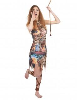 Königin des Dschungels Damenkostüm bunt