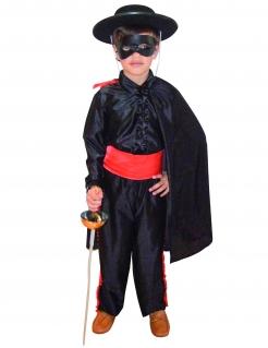 Schwarzer Rächer - Kinderkostüm schwarz-rot