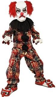 Horror Clown Kinderkostüm rot-schwarz-weiss