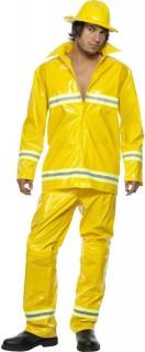 Feuerwehrmann-Herrenkostüm gelb