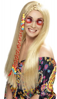 Hippie-Perücke Damen blond