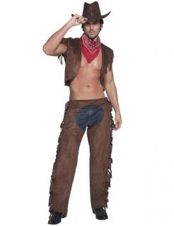 Sexy Cowboy Kostüm braun-rot