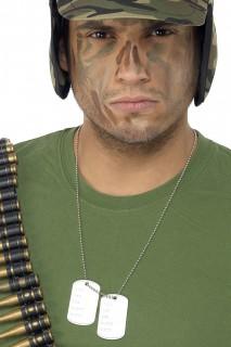 Dog Tag Soldat Erkennungsmarke silber 3x5cm