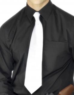 Gangster Krawatte weiss