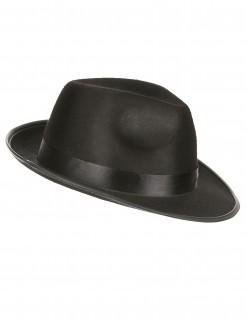 Gangster Hut Seidenband schwarz
