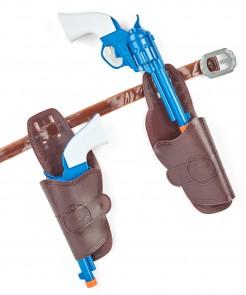 Wasserpistolen Set mit Holster braun-blau-weiss