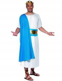Römer Kostüm Toga blau-weiss