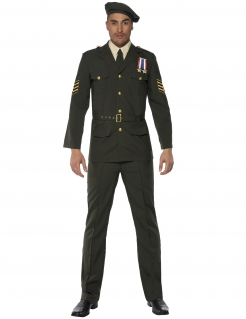 Offizier Kostüm Uniform grün