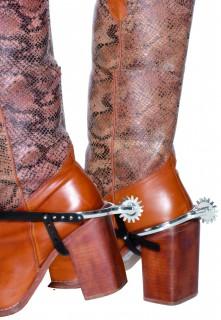 Cowboy Stiefelsporen schwarz-silber
