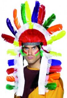 Indianer Haarschmuck Federn bunt