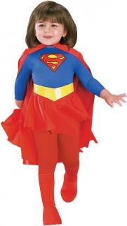 Supergirl™-Kostüm für Mädchen Karneval rot-blau