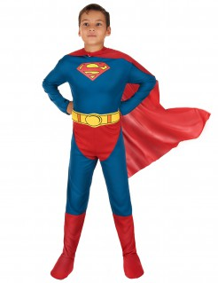 Superman Kinderkostüm Lizenzware blau-rot-gelb