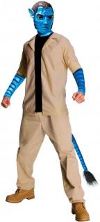 Herrenkostüm Avatar Jake Sully beige-blau-schwarz