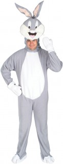 Bugs Bunny-Erwachsenenkostüm Looney Tunes grau