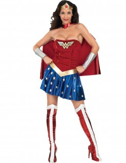 Wonder Woman Damenkostüm DC Lizenzkostüm rot-blau-gold