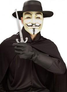 Kostüm V wie Vendetta für Erwachsene schwarz