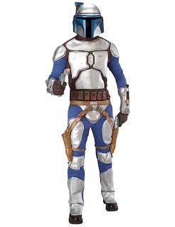 Herrenkostüm Jango Fett Star Wars™-Lizenzkostüm weiss-silber-braun