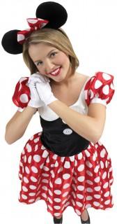 Minnie Maus Disney Damenkostüm rot-weiss-schwarz