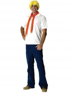 Fred-Kostüm Scooby-Doo-Lizenzkostüm weiss-blau-orange