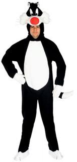 Looney Tunes Sylvester Unisex-Kostüm Lizenzware schwarz-weiss