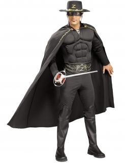 Kostüm Zorro für Herren schwarz