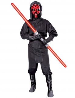Darth Maul Star Wars Original Lizenz Kostüm schwarz-rot