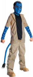 Avatar™-Kostüm für Kinder Jake Sully Karneval blau-braun
