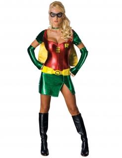 Robin Superheldin Comic Damenkostüm gelb-grün-rot