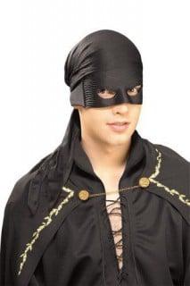 Zorro-Tuch und Augenmaske schwarz