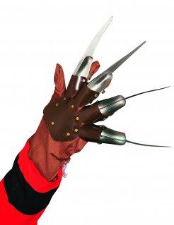 Beweglicher-Handschuh Freddy Krueger braun-silber