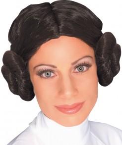 Prinzessin-Leia-Perücke Star-Wars-Damenperücke Lizenzartikel schwarz
