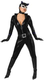 Catwoman™-Damenkostüm Katzen-Frauenverkleidung schwarz