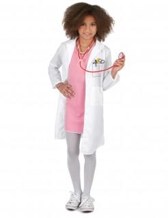 Arzt-Kinderkostüm Chefärztin weiss-rosa