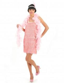 20er Jahre Charleston Damenkostüm rosa