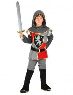 Kleiner Ritter Kinderkostüm Mittelalter silber-rot-schwarz