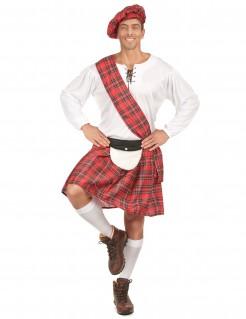 Schotte Kostüm Trachten-Uniform Plus Size rot-weiss