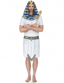 Pharao Herren-Kostüm weiß-gold-blau