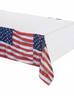 Tischdecke Amerika weiß-blau-rot 137 x 259cm
