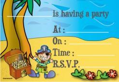 Piraten Einladungskarten Kinderparty 8 Stück 11x16cm