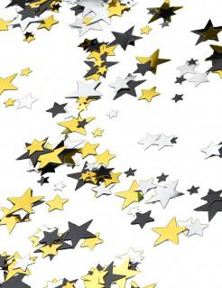 Hollywood Konfetti Sterne gold-silber-schwarz 70g