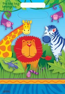 Dschungel-Tüte Kindergeburtstag Mitbringsel 8 Stück bunt