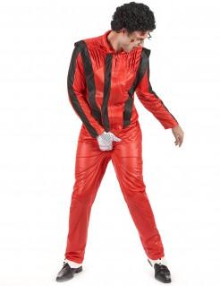 Popstar Herrenkostüm rot-schwarz