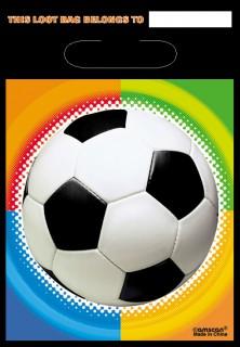 Fussball-Party Geschenk-Tüten 8 Stück bunt 30x17cm
