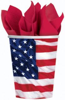 USA Pappbecher Set