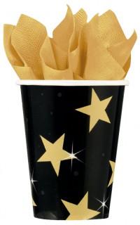 Sternen-Becher schwarz gold