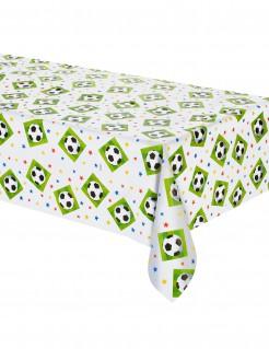 Fussball-Tischdecke weiss-grün-schwarz 137x259cm