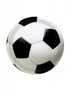 Party Teller Fußball 8 Stück schwarz-weiss 18cm